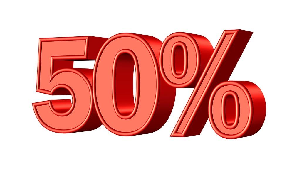 Resultado de imagem para 50%